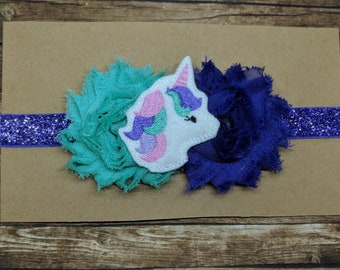 Unicorn headband-newborn photography - hair clip - headband - hair bow - infant