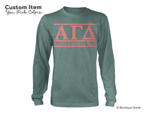 AGD Alpha Gamma Delta Script Choose Your Colors Sorority Sweatshirt wfn2AwQ