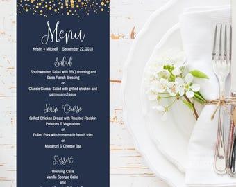 Dinner menu ideas etsy wedding menu printable junglespirit Choice Image