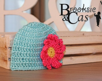 The Daisy Handmade Crochet Hat Made-to-Order Any Colors Infant Toddler Child Teen Adult