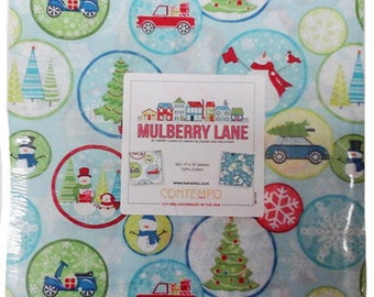 """Mulberry Lane Layer Cake by Cherry Guidry for Benartex - (42) 10"""" x 10"""" Squares"""