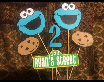 Cookie Monster Birthday Decorations, Cookie Monster centerpieces, Cookie Monster party, Cookie Monster