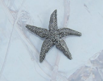 Signed Seagull Starfish Brooch Canada Pewter Great Gift For Collector or Mothers Day Vintage Delicate Starfish Brooch Signed PLUS a Bonus