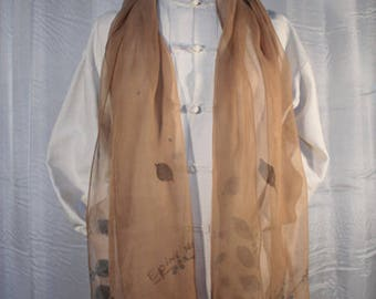 Scarf silk and vegetable dye