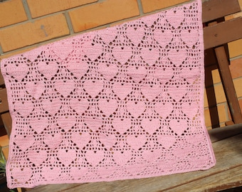 PDF, Crochet Pattern, Heart Blanket from Addicted 2 The Hook