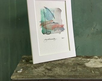 deep / original watercolor / one of a kind painting