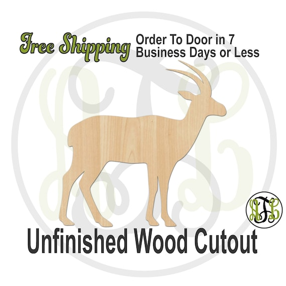 Antelope - 230159- Animal Cutout, unfinished, wood cutout, wood craft, laser cut shape, wood cut out, Door Hanger, Dog, wooden, hunting