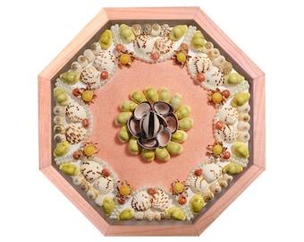 "Nantucket Sailor's Valentine Seashell Mosaic Design ""Millie"""