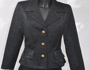 Veste vintage noire LES SOLEILS D'ARLES Taille 38 fr