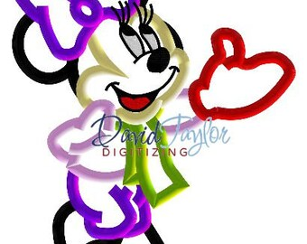 Minnie Mouse - Snowball - Embroidery Machine Design - Applique - Instant Download - David Taylor Digitizing