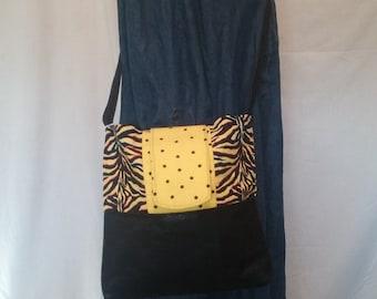 Black & Yellow Zebra Purse
