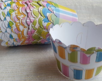 Custom Sewing Room Cupcake Wrappers (12)