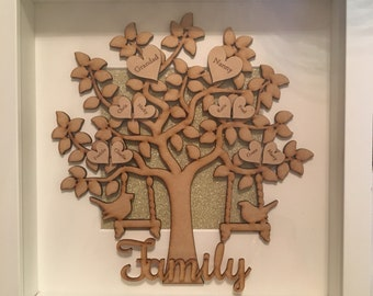 Handmade Personalised Picture Frame Famiky Tree Grandad Dad Brother Son Valentines Fathers Day Valentines Day