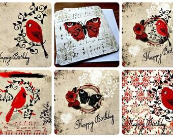 Set of 6 Bohemian 15 x 15cm original designs with envelopes