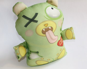 Halloween toy, Zombie toy bear, Organic cotton, Stuffed toy, baby toy, plush toy, teddy bear, Organic toy