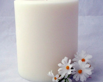 Pillar candle, 3x4 pillar candle, candle centerpiece, soy pillar candle, christmas candle, wedding candle, party candle, unscented candle
