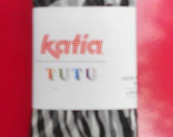 """Skein model Katia """"Tutu"""" color Zebra"""
