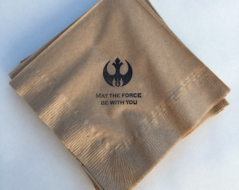 Star Wars Beverage Napkins / Set of 100 / Perfect for Parties / Recycled Paper Product