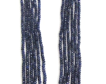 624 Ct Faceted Blue Sapphire Gemstones Six Strands Beads Necklace India