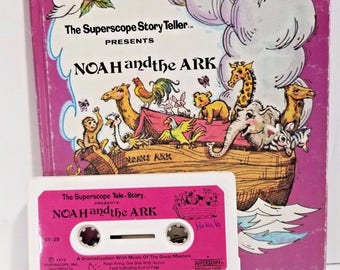 Vintage Superscope Story Teller Noah and the Ark Book and Tape 1975