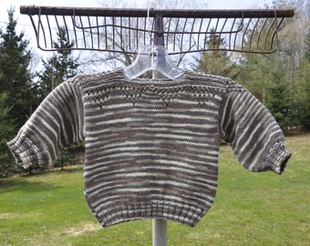 Striped Hand Knit Baby Sweater / Pullover