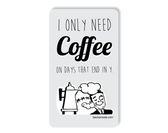 Coffee Retro Kitchen Magnet. Coffee Lover Gift. Caffine Lover Gift. Teacher Gift. Stocking Stuffer Gift. Gift for Best Friend. Coworker Gift