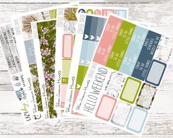 Coffee Date Weekly Sticker Kit / Fits Erin Condren Vertical Life Planner