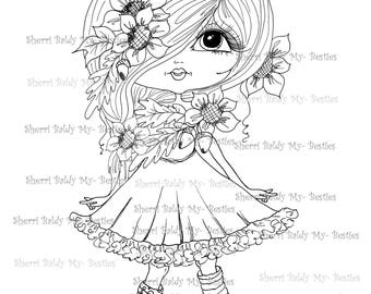 INSTANT DOWNLOAD Digital Digi Stamps Big Eye Big Head Dolls Digi  Remix Fall By Sherri Baldy