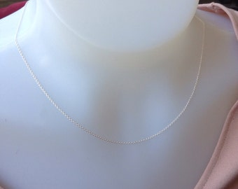 Sterling Silver Chain 18 inch, 1.2mm sterling silver necklace , Sterling Silver necklace, 925 silver, delicate chain