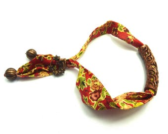 Liberty fabric adjustable strap and its ornate tube copper