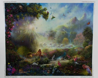 "The Breath of Life by Tom Dubois Christian Art Print (28""x24"") Limited Edition and Signed by Artist"