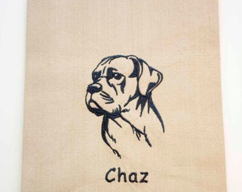 Cane Corso Tea Towel | Personalized Kitchen | Embroidered Kitchen Towel | Embroidered Towel | Personalized for Dog Lover | Kitchen Gift