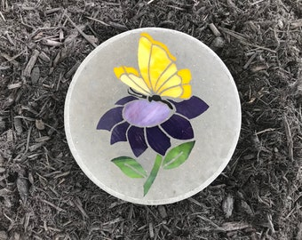 Stained Glass, Glass Art, Butterfly Decoration, Spring Decoration, Garden,  Outdoor,