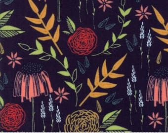 INSTOCK Creekside Meadow Midnight 37530 16 by Sherri and Chelsi from Moda -1 yard