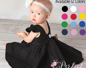 Little Black Dress | Girls Black Dress | Baby Black Dress | Breakfast at Tiffany | Audrey Hepburn | Classic Black Dress |Toddler Black Dress
