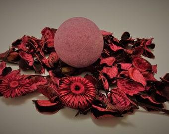 Grape bath bomb