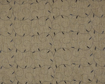Midway Scroll Ginger Polyester Sheer Fabric