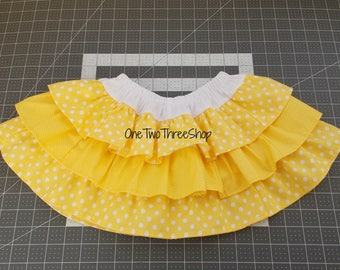 Ready to ship out Belle inspired ruffled layered skirt