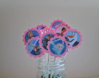 Frozen Cupcake Toppers / 12 Count