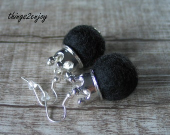 "Pierced Earrings-Filzperle ""Baroness"""