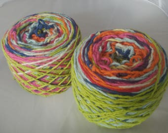 Reclaimed Bulky Lambswool Angora Yarn