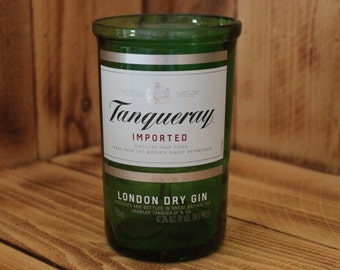 Upcycled Tumbler / Pint Glass handmade from a repurposed Tanqueray Gin liquor Bottle