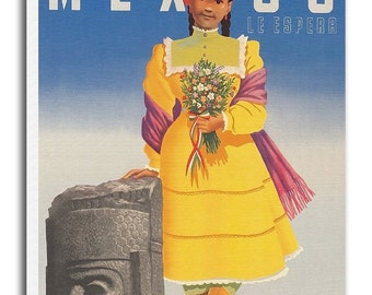 Mexican Vintage Art Mexico Travel Poster Print Canvas Hanging Wall Decor xr863