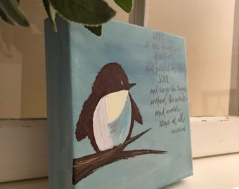 Hope is the thing with feathers-canvas