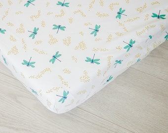 Organic Changing Pad Cover | Dragonflies