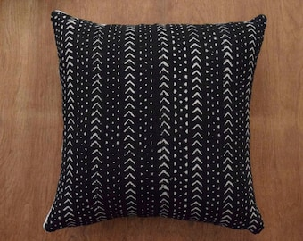 Authentic African Mudcloth Pillow Cover, Tribal pillow cover  - REF: 0WBI