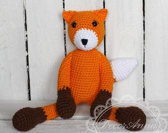 Amigurumi, fox, stuffed crochet plush, soft toy