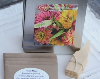 Gardening Gift, Flower Seed Kit, Cut Flower Garden Seeds, Great Gift for Mom, Coworker Gift, Gifts Under 25, Gardening Gift Set, Seed Kit