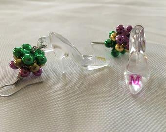 Authentic MUSES krewe Mardi Gras earrings