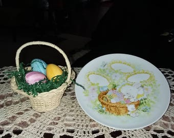 Avon Easter Basket and Plate